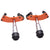 R.J.VON  Premium Heavy Duty KTM Frame Silder With Brackets Set of 2 (Orange)