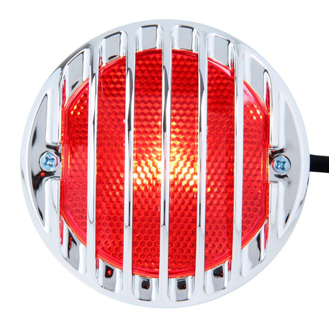 R.J.VON Tail Light with Grill Silver