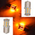 SIMTAC 360° Reflecting LED Indicator Bulbs Handmade Retrofit (Amber, Straight Pin)