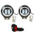 R.J.VON -2 Led Fog Light With Blue Ring 20 W (Pack of 2 Pcs)
