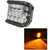R.J.VON -6 Led Fog Light With Side Red Flashing 15 W (Pack of 2 Pcs)