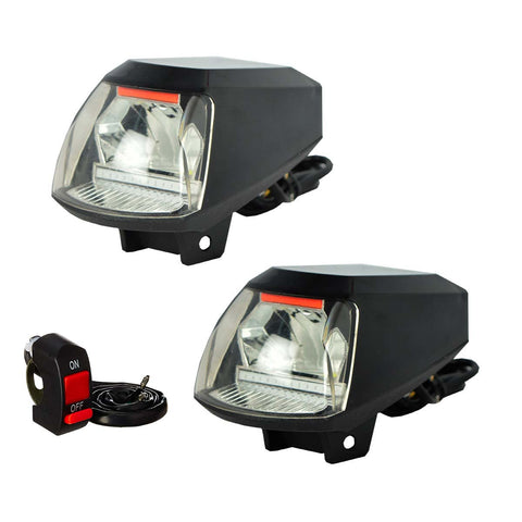 R.J.VON Bike Fog Light with USB A06-X Port Set of 2, Focus White and Blue, 20 W Each)