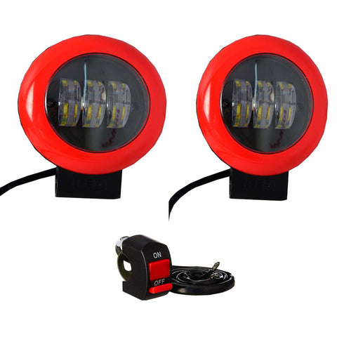 R.J.VON -Bike Led Fog Light Supper Bright 25 W Each (Pack of 3 Pcs)