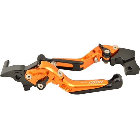 R.J.Von Premium Adjustable and Foldable Brake and Clutch Lever For KTM Duke125/200/390,RC 200/390.