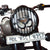 R.J.VON Premium Om Pattern Headlight Grill Set For Royal Enfield Standard 350 &500, BS4, BS6 ,Black.