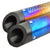 R.J.VON Universal Bike Dual Output Exhaust Silencer IXIL with DB Killer (Multicolour)