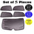 Premium Finish Car Window Sunshades for Skoda Febia - Set of 5 Pcs,( black)