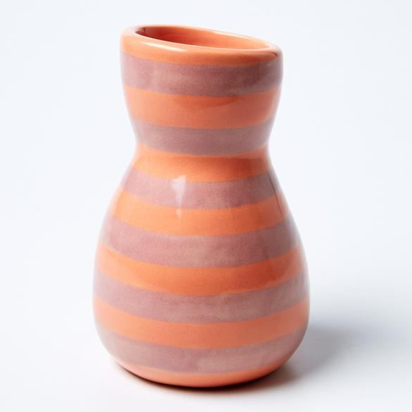 Saturday Vase Pink Stripe