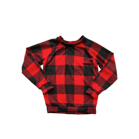 RTS: Red Plaid Raglan