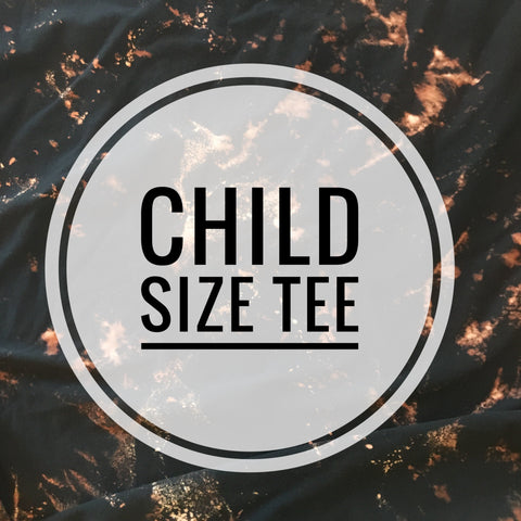 Child's Distressed Raw Edge Tee
