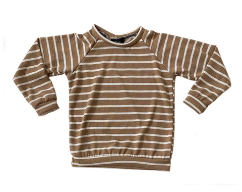 Camel Stripe Cardigan OR Raglan