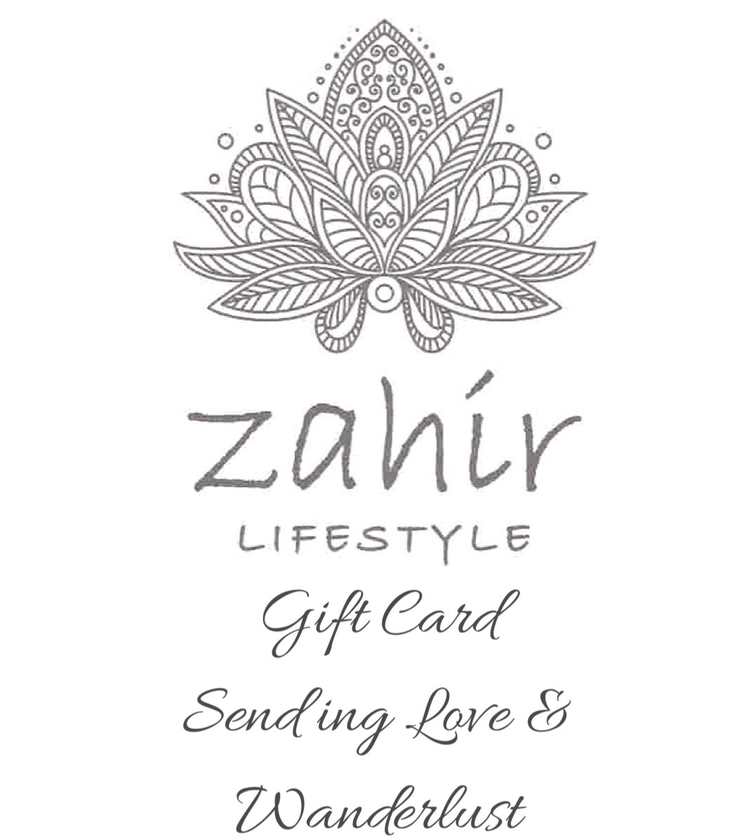 Zahir Lifestyle Gift Card $100