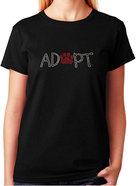 Adopt with Paw in Rhinestones