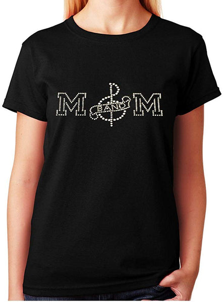 Band Mom with Music Note in Rhinestones