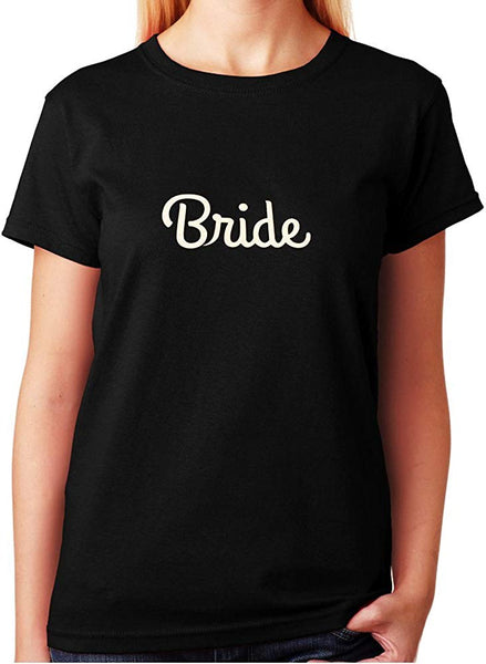 Women's / Unisex T-Shirt with Bride in Glitter Print