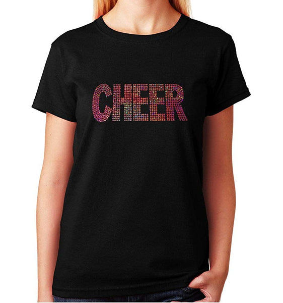 Women's / Unisex T-Shirt with Cheer in Sequence