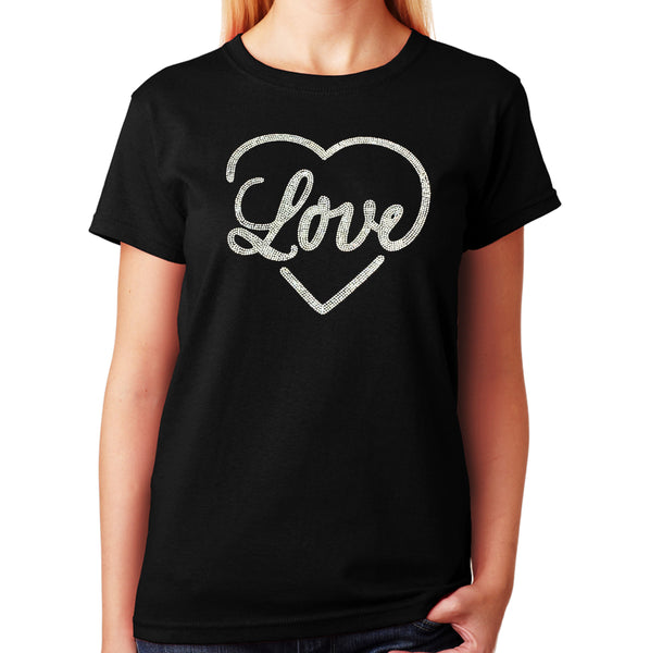 Women's / Unisex T-Shirt with Love Heart in AB