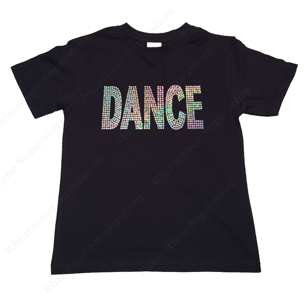 "Girls Sequence T-Shirt "" Silver AB Sequence Dance "" Size 3 to 14 Available"