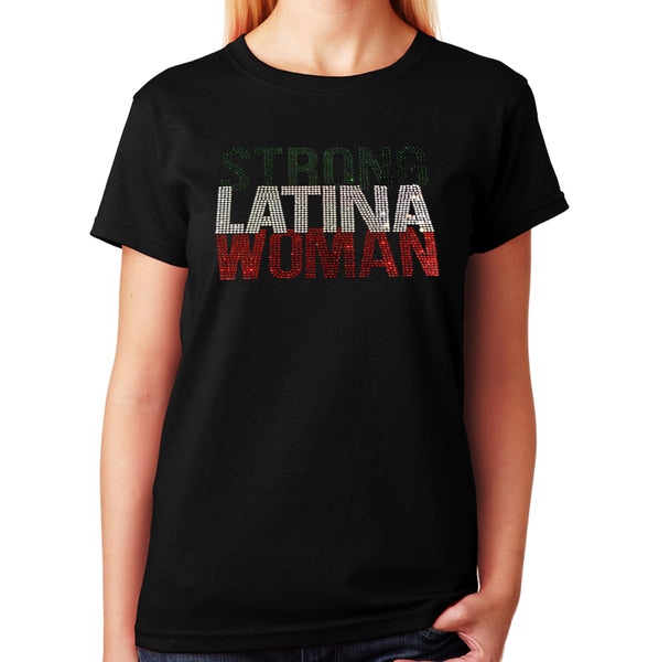 Strong Latina Woman in Rhinestones