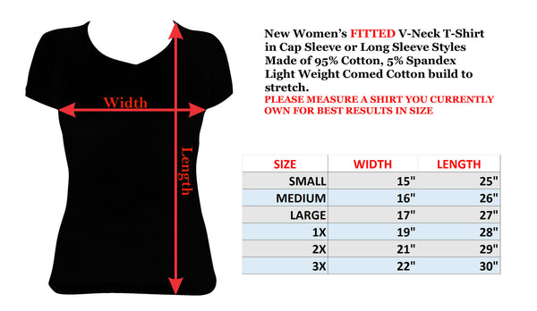 Womens T-shirt with Fight Cancer Pin Up with Ribbon in Rhinestones