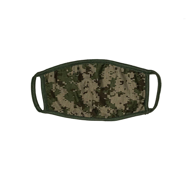 Reusabe Digital Camo Face Mask, 2 PLY, Washable & Durable