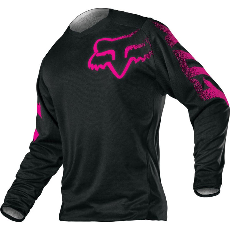 Fox Racing Youth Girls Blackout Jersey Black/Pink