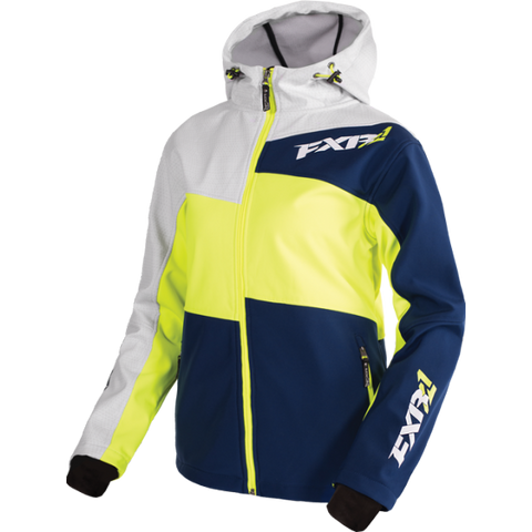 FXR Fresh Womens Softshell Navy HiVis