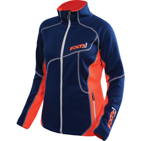 FXR Elevation Zip Fleece Navy Electric Tang