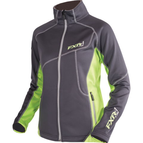 FXR Elevation Zip Fleece Char Electric Lime