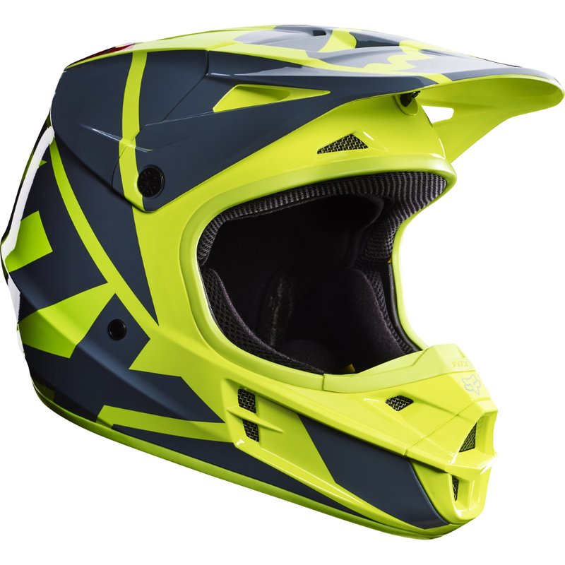 Fox Racing V-1 Race Helmet Bt. Yellow - 1