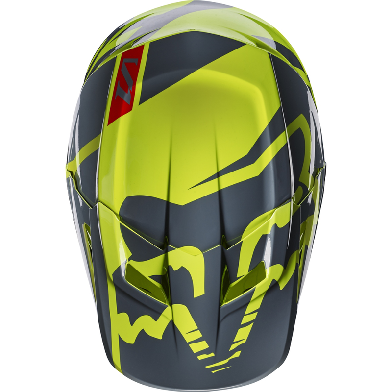 Fox Racing V-1 Race Helmet Bt. Yellow - 4