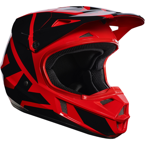 Fox Racing V-1 Race Youth Helmet Red - 1