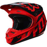 Fox Racing V-1 Race Youth Helmet Red - 2