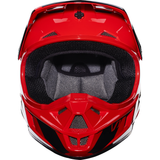 Fox Racing V-1 Race Youth Helmet Red - 4