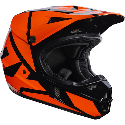 Fox Racing V-1 Race Youth Helmet Orange - 1