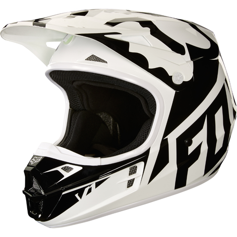 Fox Racing V-1 Race Helmet 2018 White/Green