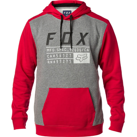 Fox Racing District 3 Pullover Hoody Red