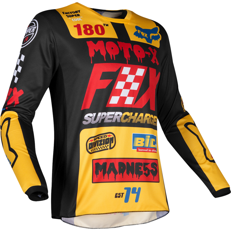 Fox Racing 180 Czar Jersey Black Yellow