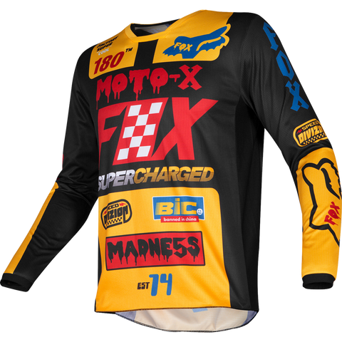 Fox Racing Youth 180 Czar Jersey Black Yellow