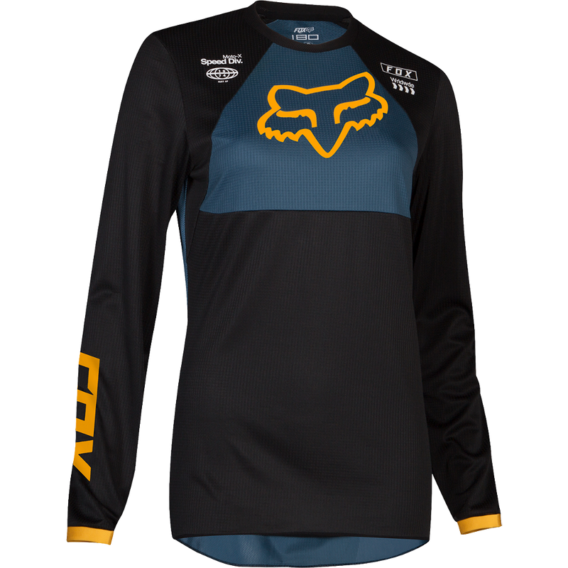 Fox Racing Womens 180 Mata Jersey Navy