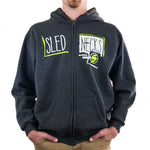 Slednecks Rough Cut Zip Hoody Charcoal Heather