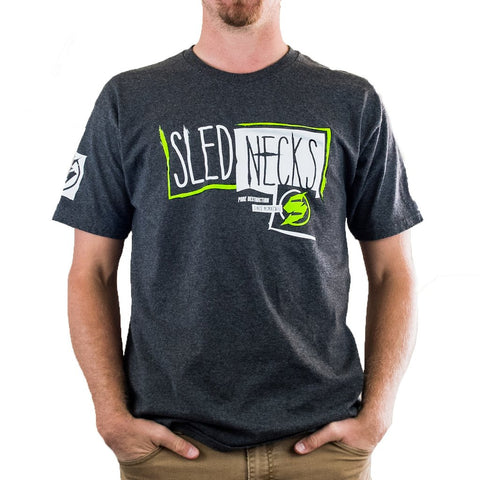 Slednecks Rough Cut Tee Shirt Charcoal Heather