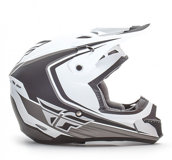 Fly Racing Kinetic Fullspeed Helmet Matte White - 2