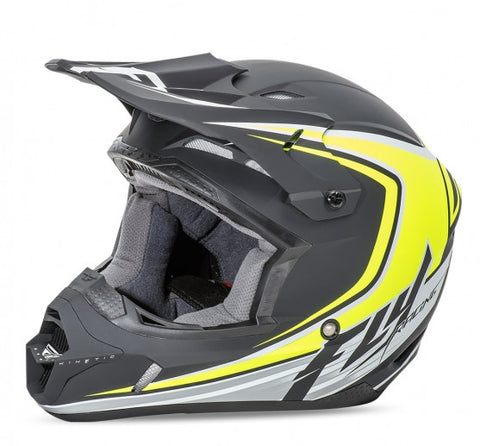 Fly Racing Kinetic Fullspeed Helmet MtBlk/Hi Vis - 1