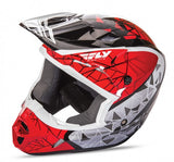 Fly Racing Kinetic Crux Helmet Red/Bk/Wht - 1