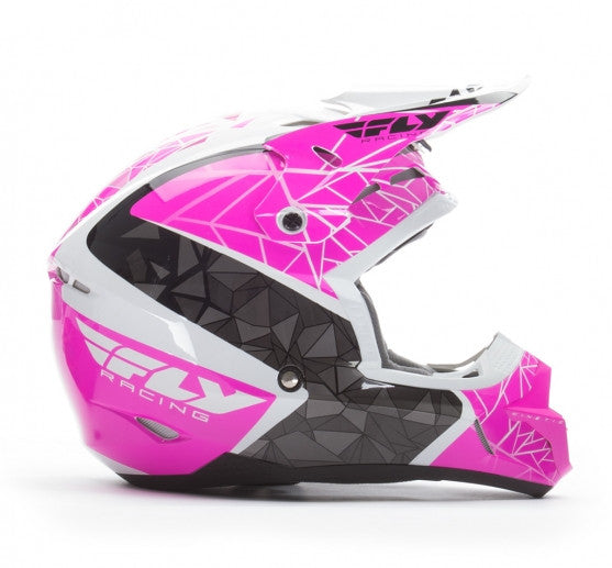 Fly Racing Kinetic Crux Helmet Pink/Blk/Wht - 2