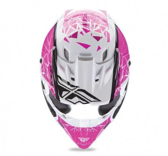Fly Racing Kinetic Crux Helmet Pink/Blk/Wht - 3