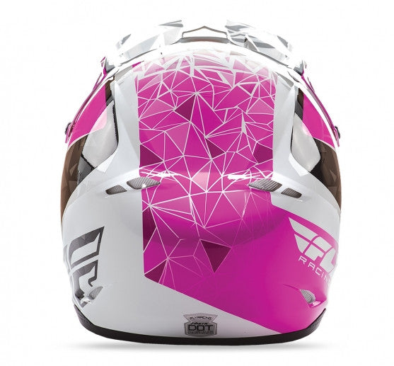 Fly Racing Kinetic Crux Helmet Pink/Blk/Wht - 4