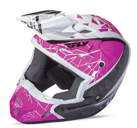 Fly Racing Kinetic Crux Helmet Pink/Blk/Wht - 1