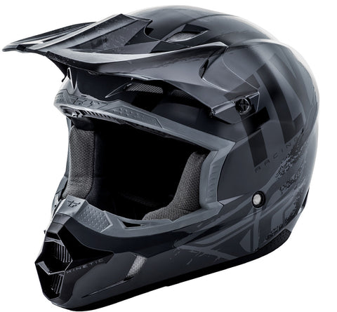 Fly Racing Kinetic Burnish Helmet Grey Black